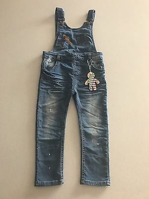 Brand New With Tags Unisex Kids Denim Jeans Overalls Size 3
