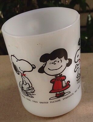 ONE ( 1 ) snoopy FEDERAL mug LUCY Charlie Linus Crack On Handle