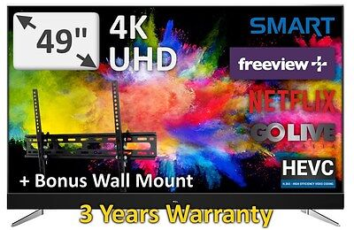 "TCL 49"" Stunning UHD High Dynamic Range HDR New 2017 Model 49C2US Android TV"