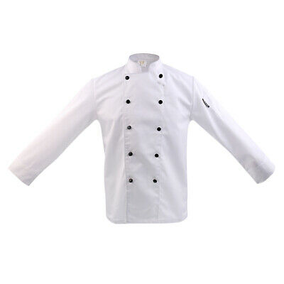 Double Breasted Short Sleeve Chef Jacket Coat Cook Hotel Uniform for Mens Womens