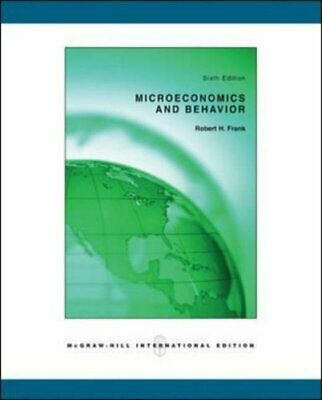 Microeconomics and Behavior by Frank, Robert H Paperback Book The Cheap Fast