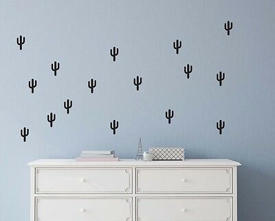 Cactus shape wall decals, vinyl wall decal stickers