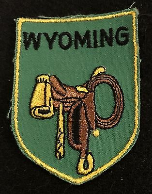 WYOMING Vintage Patch State  Souvenir Travel VOYAGER Embroidered