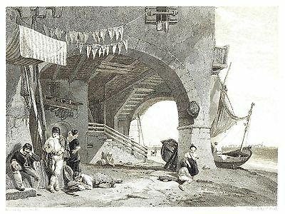 The Island of Mazorbo, Venice, Italy - Engraving after Clarkson Stanfield - 1832