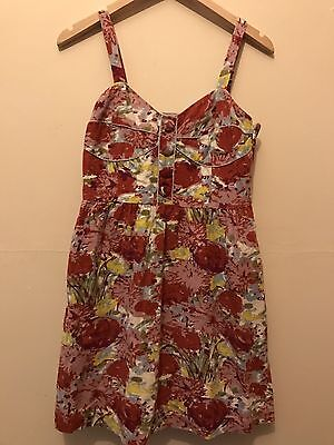 EP By Easton Pearson Hand Printed Floral Dress Size  S/M