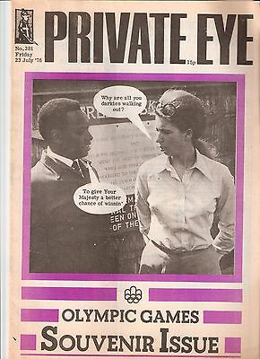 Private Eye Magazine # 381 23 July 1976 HRH Anne Princess Royal Montreal Olympic