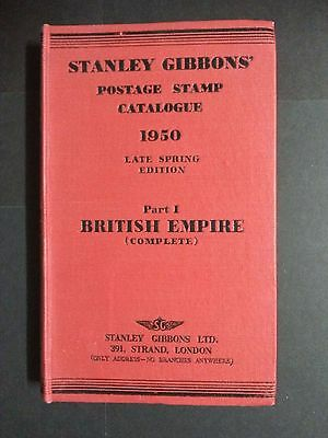 Stanley Gibbons Postage Stamp Catalogue 1950 Part 1 British Empire