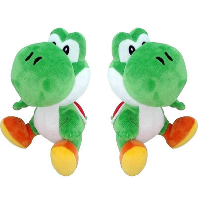New Super Mario Brothers Green Yoshi  Soft Plush 7in Stuffed Cute Aninmal Doll