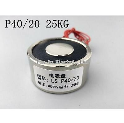 Holding Electric Magnet Lifting P40/20 DC 12V  25Kg Waterproof Solenoid
