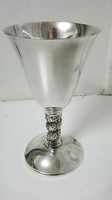 silver plated wine goblet plato spain.