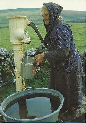 Real Ireland Postcard - GETTING WATER THE HARD WAY