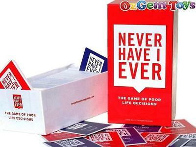 Never Have I Ever Card Game for Adults