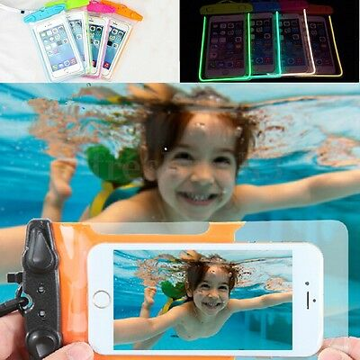Waterproof Underwater Dry Pouch Bag Case Fluorescent Cover for iPhone Phone