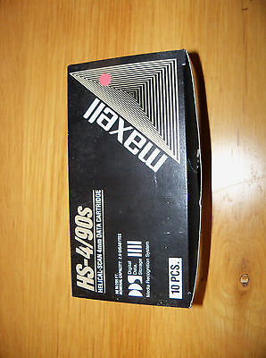Brand New Pack of 10 Maxell HS-4/90s DDS 4mm Data Cartridges