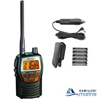 Cobra Mr Hh125 Handheld Marine Vhf Radio For Boat Vessel Yacht