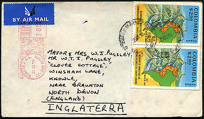 Colombia 1974 Commercial Airmail Cover To UK #C40592