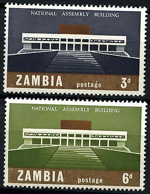 Zambia 1967 SG#120-1 National Assembly Building MNH Set #D48229