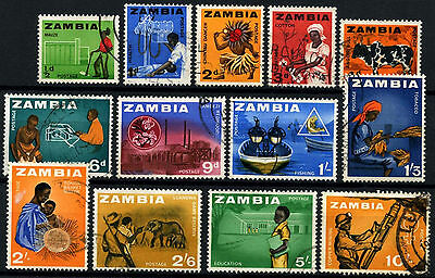 Zambia 1964 SG#94-106, 1/2d - 10s Definitives Used #D48231
