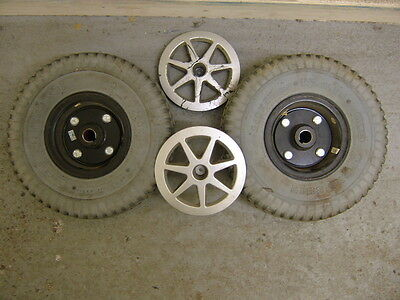 PRIDE JAZZY SELECT POWERCHAIR DRIVE WHEELS & PUNCTURE PROOF TYRES. 260x85.
