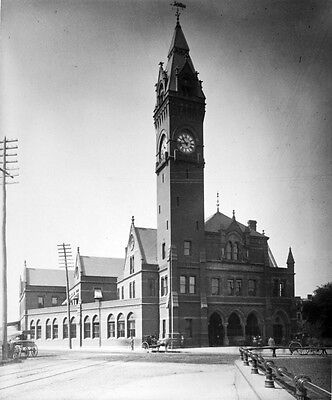 Photo. ca 1879. Boston and Providence Railroad Station