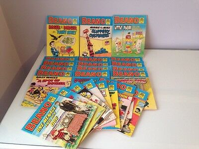 Collection Of 23 Beano Comics From The Comic Library.
