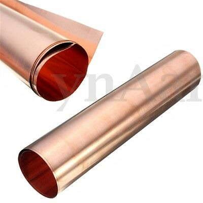 99.9% Pure Copper Sheet Plate Options Guillotine Cut 0.1mm/0.5m/0.8mm Thick