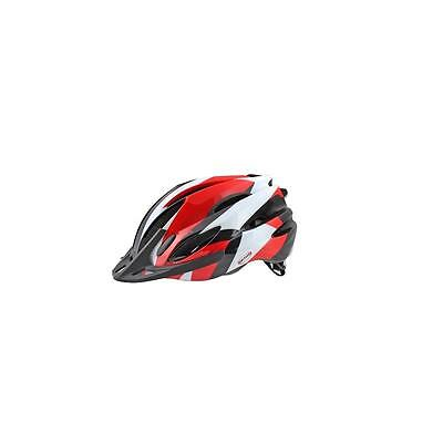 Casque Velo OKTOS Adulte Rouge/Blanc taille M 54/58