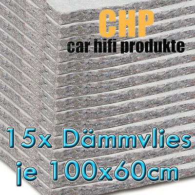 15x CHP Insulating fleece adhesive 15 Mats CAR Sound VEHICLE 0 3/8in Vlies 9m²
