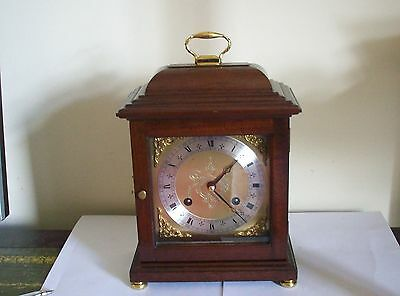Vintage Mahogany Mantle Carriage Clock By Comitti Of London Working
