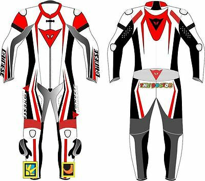 Dainese Motorbike Leathers Suit Motorcycle Racing Custom Made Any Size NEW