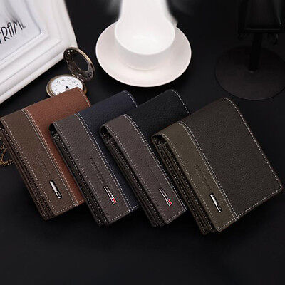 Mens Wallet Leather Bifold Money Card Holder Wallet Coin Purse Clutch Pockets