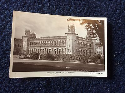 KUALA LUMPUR,REAL PHOTO POSTCARD,COURT OF JUSTICE,EARLY CARD.      s