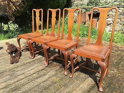 Four excellent Queen Anne style dining chairs in good solid condition