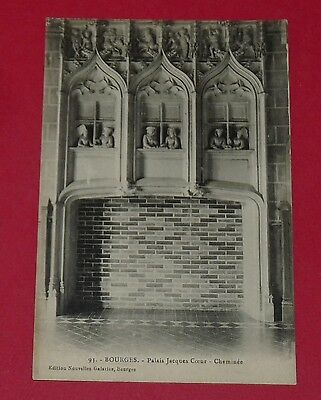 Cpa Carte Postale France Cher 18 Bourges Palais Jacques Coeur Cheminee