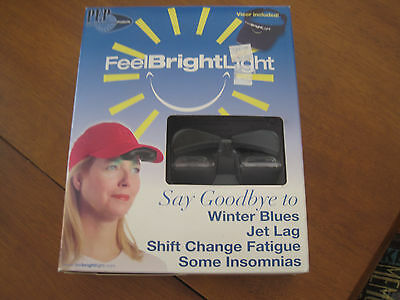 Deluxe Feel Bright Light Portable Light Therapy Device With Visor and Battery