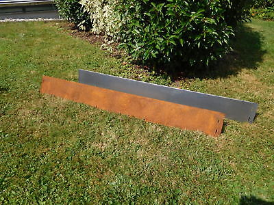 10 Pack Corten Steel Lawn Edging Metal Fence Border Driveway 14 cm high