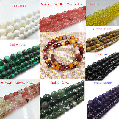 """Wholesale Natural Gemstone Agate Round Jewelry Making loose beads strand 15""""x1"""
