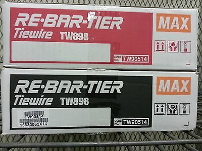 Tw898 Tw897A Tie Wire 21Ga  50-Pk Max Rebar Tier For Rb392 395 397 398 517 518
