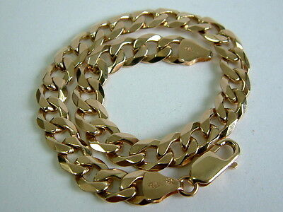 Solid 9Ct Yellow Gold Faceted Curb Linked Bracelet - 8.25 Inches