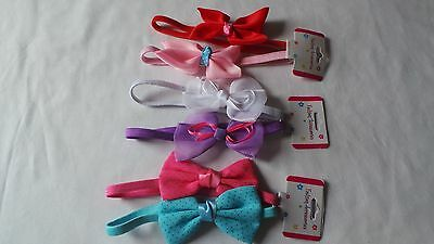 2 Pcs Baby Girl Newborn Elastic Bow Hairband Alice Headband Headress
