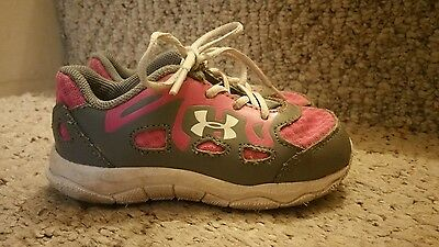 Baby Girl's Toddler Under Armour UA Running Tennis Athletic Gym Shoes Size 7