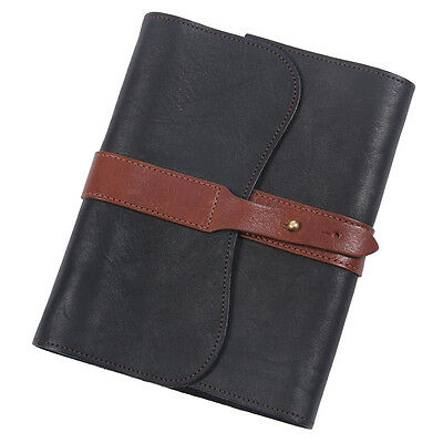 No. 9 Leather Writing Journal Black Brown Refillable Ruled Pages Col. Littleton