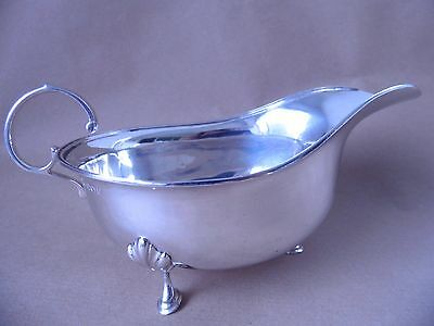 Nice Antique Sterling Silver Sauce Boat 1913