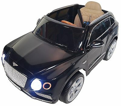 2017 Bentley12v Battery Powered Electric Ride On Kids Toy Car Remote Black