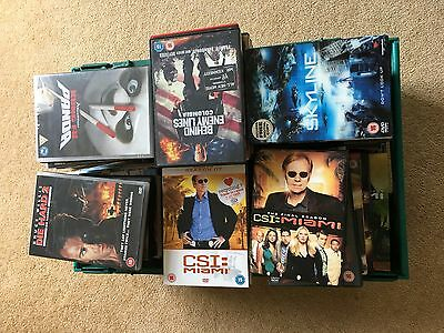100 DVDs !! Job Lot. Some complete box sets. Lost, CSI Miami, Action DVDs