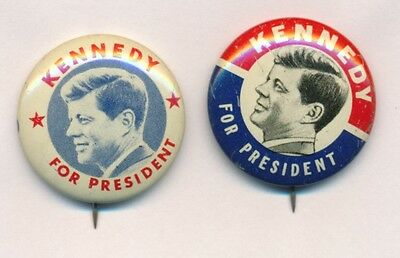 1960 Kennedy For President Presidential Button Lot Of 2