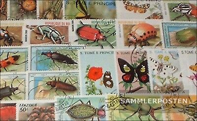 Thematics 250 different Insects stamps