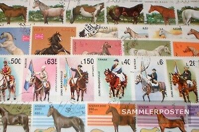 Motives 100 different Horses and Ride stamps