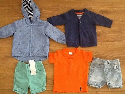BABY BOY CLOTHES BUNDLE 3-6 months some new,  coat shorts top cardigan