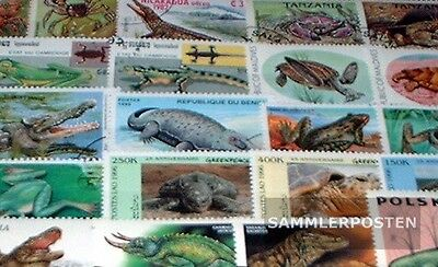 Thematics 50 different Amphibians Stamps